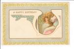 Embossed A Happy Birthday Art Deco - Anniversaire