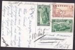 Ethiopia Airmail PPC Echt Real Photo Véritable 1954 To Sweden Readressed !! (2 Scans) - Äthiopien