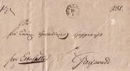 Brief Stralsund 26.1 Einkreisstempel Gelaufen Nach Greifswald - Deutschland
