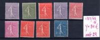 Semeuse Lignée, 197 / 205 *, Cote 84 €, Avec Charnière - 1903-60 Semeuse Lignée