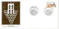 Grande Env Fdc France+feuille D´or,30/3/85 Montpellier, N°2350,1000 Ans De La Fondation De Montpellier - 1980-1989