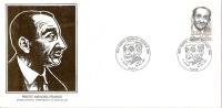 Grande Env Fdc France+feuille D´or,16/12/83 Paris, N°2298, Pierre Mendès France, Homme Politique - 1980-1989