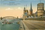 DUSSELDORF - Partie Sur Le Rhin Avec Tour Du Château Et L'église St. Lambert (Veuve Roemer, 22940) - Duesseldorf