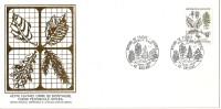 Grande Env Fdc France+feuille D´or,21/9/85 Orléans, N°2384, Flore, Hêtre Fayard, Arbre - 1980-1989