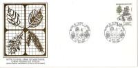 Grande Env Fdc France+feuille D´or,21/9/85 Orléans, N°2386, Flore, Chêne Pédonculé, Arbre - 1980-1989