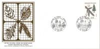 Grande Env Fdc France+feuille D´or,21/9/85 Orléans, N°2387, Flore, épicéa, Arbre - 1980-1989