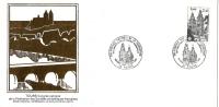 Grande Env Fdc France+feuille D´or,25/5/85 Tours, N°2370, Congrès National De La Fédération Des Sociétés Philatéliques - 1980-1989