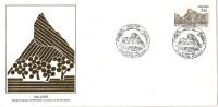 Grande Env Fdc France+feuille D´or,28/9/85 Solutré, N°2388, La Roche De Solutré, Site Préhistorique - 1980-1989