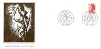 Grande Env Fdc France+feuille D´or,1/7/84 Paris, N°2319, Liberté, La Liberté Guidant Le Peuple, Delacroix - 1980-1989