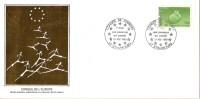 Grande Env Fdc France+feuille D´or,31/8/84 Strasbourg, N°85, Conseil De L´europe - 1980-1989