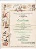 1 MENU ILLUSTRE DINER DES BOURGUIGNONS 27 FEVRIER 1936 FORMAT 21 X 27 CMS VENDU EN L ETAT - Menu