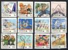 Australia 1988, Lot Of 12 Stamps, Living Together (o), Used - 1980-89 Elizabeth II