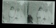 1   Negatif Photo Ancienne -plaque De Verre - Communiante - Glass Slides