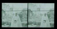 1   Negatif Photo Ancienne -plaque De Verre - Communiante - Plaques De Verre
