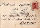 RARA-CARTOLINA POSTALE PUBBLICITARIA - FEDERICO INTINI-MOLA-7-3-1903-REGNO-CENT.10 - 1900-44 Victor Emmanuel III.