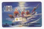 Polynésie Française / Tahiti - PF12B - Soleil Levant - Recto Mat / Verso Bleu (lot 00159) - SC7 - Luxe - French Polynesia