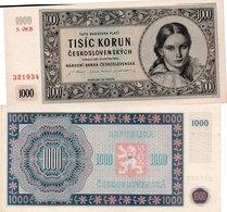 CZECHOSLOVAKIA 1000 1,000 KORUN 1945 P 74 SPECIMEN SEE SCAN 3 PUNTI - Czechoslovakia