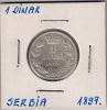 Gh5 Serbia 1 Dinar 1897. Silver Argent Ag - Serbia