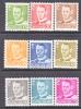 Denmark 306-14    **   1948-50  Issue - Denmark