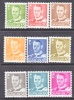 Denmark 306-14    **   1948-50  Issue - Unused Stamps