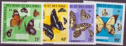 AFARS ET ISSAS N° 404/407** NEUF SANS CHARNIERE  PAPILLONS - Afars Et Issas (1967-1977)