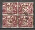 Grande Bretagne - Taxe - 1937/8 - Y&T 31 - S&G D34 (bloc De 4)- Oblit. - Taxes