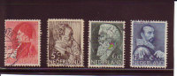 Nederland 1935 - Summerstamps, Famous Persons, Set Of 4  NVPH 274-77  Mi. 282-85  Used - 1891-1948 (Wilhelmine)