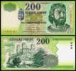 HUNGARY NOTE 200 FORINT 1998 P 178 UNC - Hungary