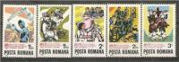 ROMANIA 1982 PLANT INDUSTRY WORKER SC # 3055-3059 MNH - Nuovi