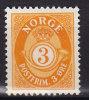 Norway 1941 Mi. 217     3 Ø Posthorn MH* - Norwegen