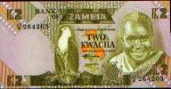 ZAMBIE - 2 Kwacha - Zambie