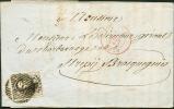 N°6 Sur Lettre Expédiée De Mons Vers Strépy-Bracquegnies En 1858 - Autres - Europe