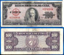 Cuba 100 Pesos 1950 Aguilera Caraibe Caribe Kuba Pesos Paypal Skrill Bitcoin OK! - Cuba