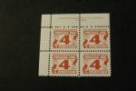 Canada J24 UL Plate Block Four Cent Postage Due MNH 1967 A04s - Port Dû (Taxe)