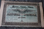 MINAS DE COBRE DE NERVA MINES DE CUIVRE DE NERVA  ESPANA >> MADRID  1906 SCRIPOPHILIE - Mineral