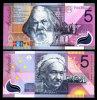 AUSTRALIA 5 DOLLARS 2001 P 56 COMM. POLYMER UNC + - Australia