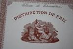 DISTRIBUTION DE PRIX 1ER ACCESSIT GEOGRAPHIE COURS ST THOMAS D'AQUIN MARSEILLE 26-7-1909 >THEME BUREAU ET OBJETS LIES - Other Collections