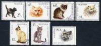 ALBANIA 1966 Cats Set Used Michel 1091-97 - Chats Domestiques