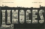 Limoges : Silhouette De La Ville Et Multivue. 2 Scans. Edition Batier - Limoges