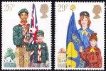 GRANDE-BRETAGNE 1982 MNH ** - Scoutisme Scout Louveteau éclaireuse Jeannette Baden-Powell - Padvinderij