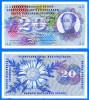 Suisse 20 Francs 1970 Serie 72 M Switzerland Svizzera Schweizerische Paypal Bitcoin OK - Suiza