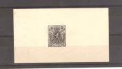Petit Feuillet Timbre Petit Lion En Noir à 6 Centimes  --  RR260 - Proofs & Reprints