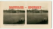 PHOTO STEREOSCOPIQUE  - MARSEILLE - Pont Transbordeur + Fort St Jean + Vieux Port - Bridge - Stereoview - Photos Stéréoscopiques