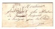 LOUHANS Saône-et-Loire LAVIGNY Par LONS-le-SAUNIER Jura 1844 Vin Wine - 1801-1848: Précurseurs XIX