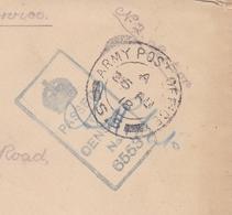 Lettre WW1 USA Army Post Office Censure 1918  Première Guerre Mondiale Newport Angleterre - Storia Postale