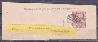 Streifband S 8 Kaiser Franz Joseph, Vorausentwertung?, DOEAV Wien, Nach Weissenburg 1909 (40533) - Ganzsachen