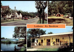 ÄLTERE POSTKARTE LEISSNITZ KREIS BEESKOW Friedland Dorfstrasse Zeltplatz Zelt Tent Tente AK Ansichtskarte Postcard Cpa - Friedland