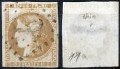 FRANCE Bordeaux Ceres 10c - Obl. (etat Moyen) Lower Condition - 1870 Bordeaux Printing