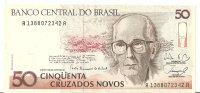BRESIL 50 CRUZADOS NOVOS ND1989 AUNC P 219a - Brasilien