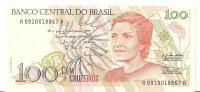 BRESIL 100 CRUZEIROS ND1990 UNC P 228 - Brasilien